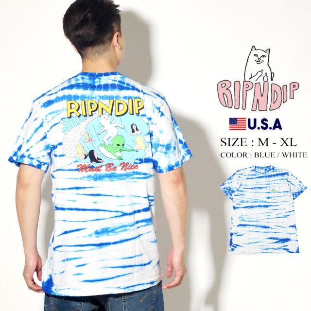 RIPNDIP リップンディップ Tシャツ 半袖 Hang 10 Tee RND4360