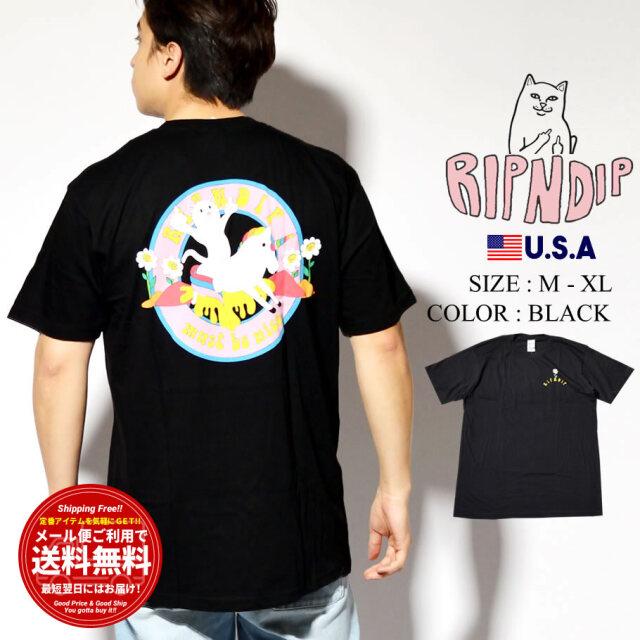 RIPNDIP リップンディップ Tシャツ メンズ レディース 半袖 Unicorn Rider Tee RND4751
