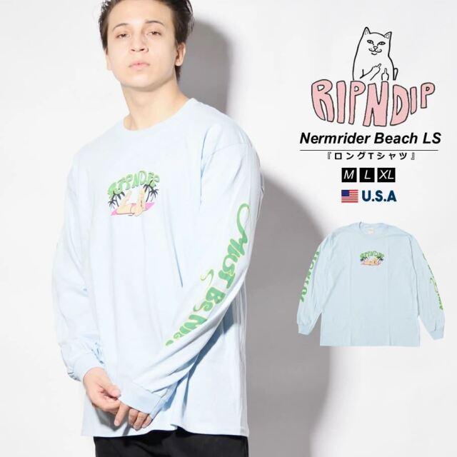 RIPNDIP リップンディップ ロンT 長袖Tシャツ メンズ 猫 ネコ ブランド USAモデル Nermrider Beach Long Sleeve RND6054