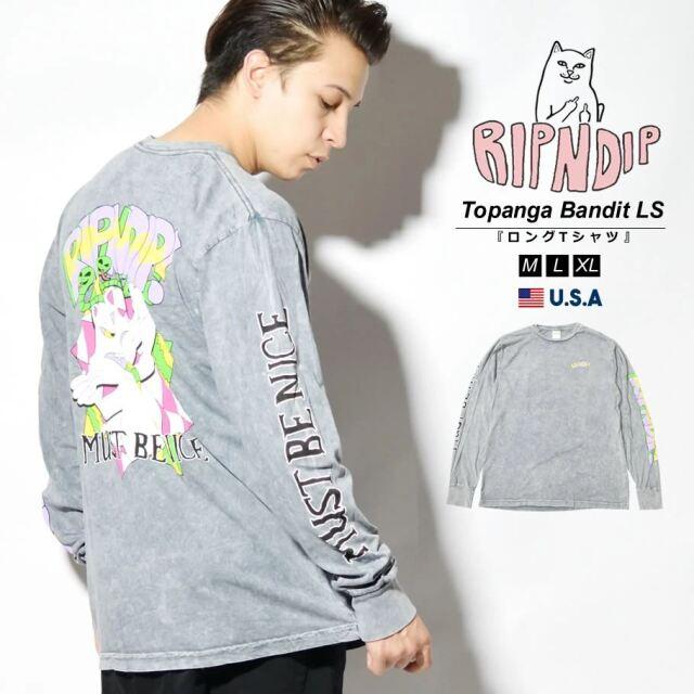 RIPNDIP リップンディップ ロンT 長袖Tシャツ メンズ タイダイ柄 猫 ネコ ブランド USAモデル Topanga Bandit Long Sleeve RND6056