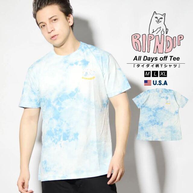 RIPNDIP リップンディップ Tシャツ メンズ 半袖 タイダイ柄 猫 ネコ ブランド USAモデル All Days off Tee RND4965