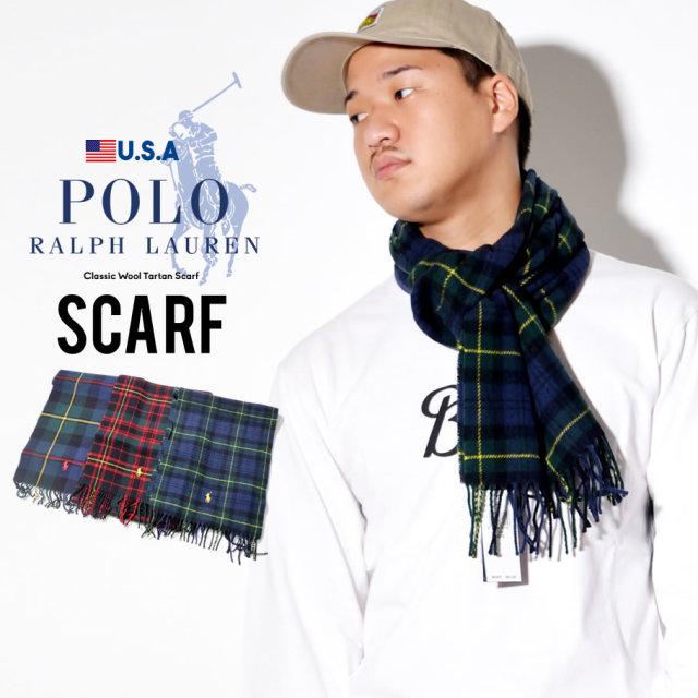 POLO RALPH LAUREN ポロ ラルフローレン マフラー スカーフ メンズ レディース タータンチェック ポニーロゴ PC0458 防寒 通販