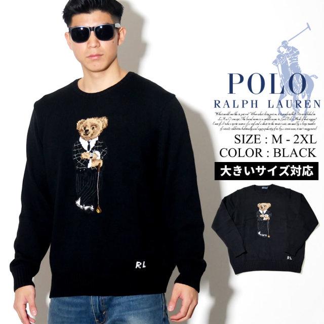 POLO RALPH LAUREN ポロ ラルフローレン セーター メンズ ベアー クマ ストリート系 hiphop ヒップホップ カジュアル ファッション S191GC01 服 通販