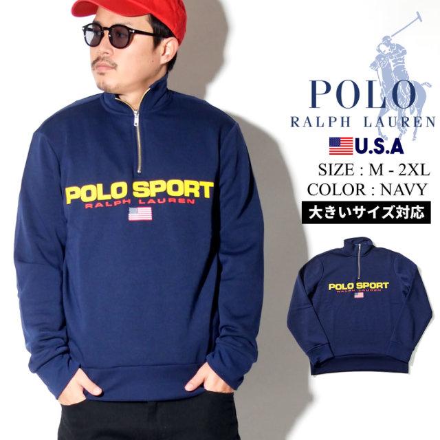 Polo Ralph Lauren ポロ ラルフローレン ハーフジップ トレーナー メンズ 大きいサイズ ロゴ POLO SPORT カジュアル ストリート系 ファッション 服 通販