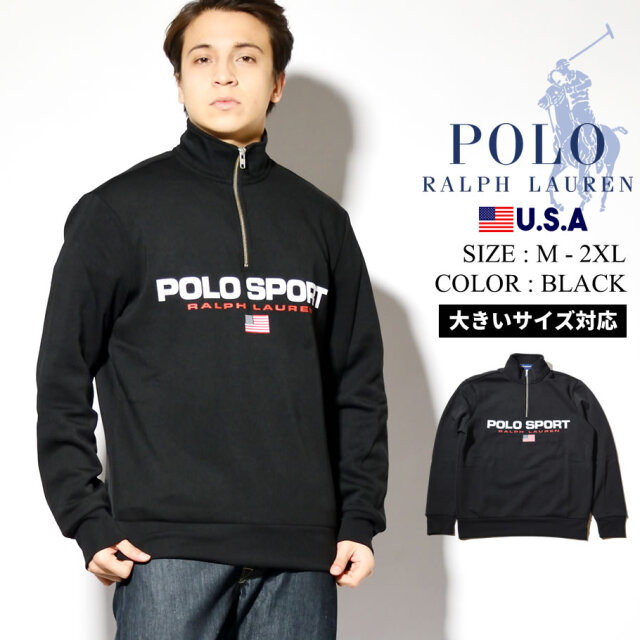 Ralph Lauren POLO SPORT ラルフローレン ポロスポーツ ハーフジップトレーナー メンズ 裏起毛スウェット USAモデル 710750456008