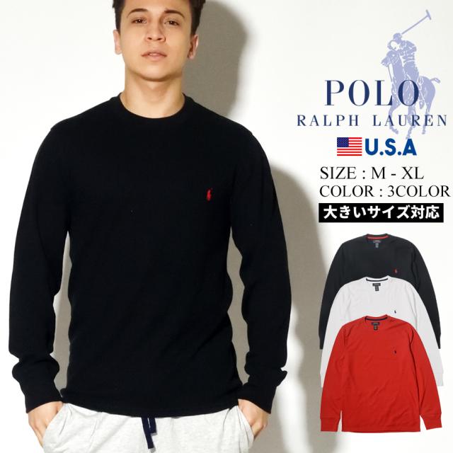 Polo Ralph Lauren ポロ ラルフローレン ロンT 長袖Tシャツ メンズ ポニーロゴ LONG SLEEVE CREW PWLCRL