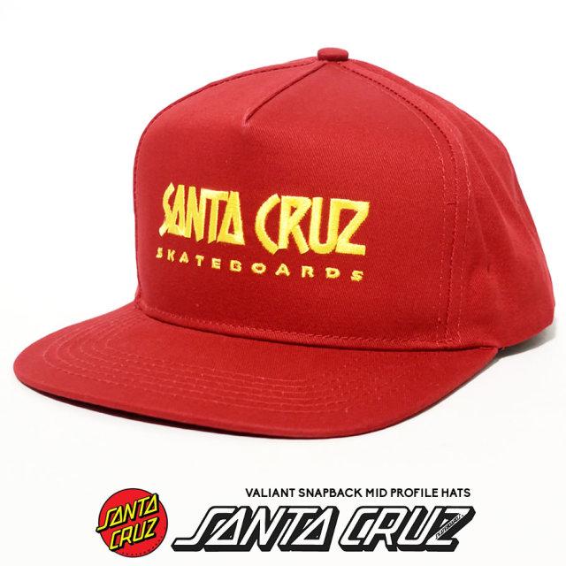 SANTA CRUZ (サンタクルーズ) スナップバックキャップ レッド VALIANT SNAPBACK MID PROFILE HATS (44441946)