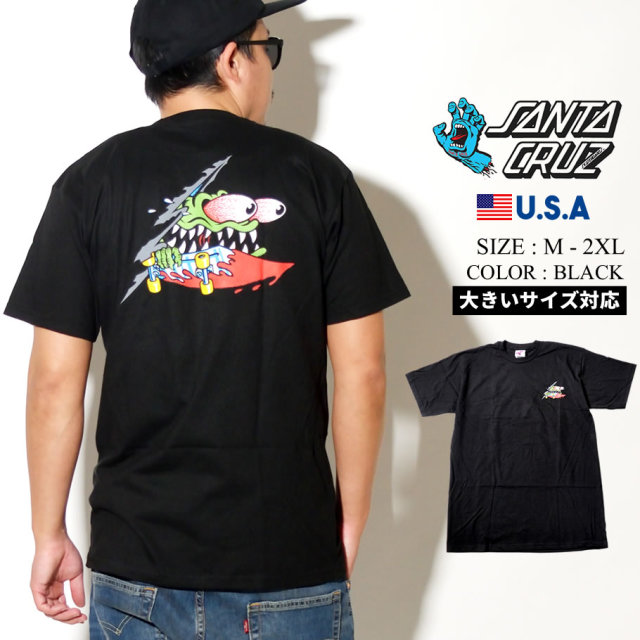 SANTA CRUZ (サンタクルーズ) 半袖Tシャツ SLASHED S/S REGULAR T-SHIRT (44154594)