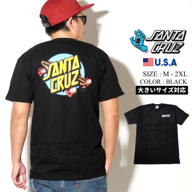 SANTA CRUZ (サンタクルーズ) 半袖Tシャツ SUMMER '76 S/S REGULAR T-SHIRT ブラック (44154595)