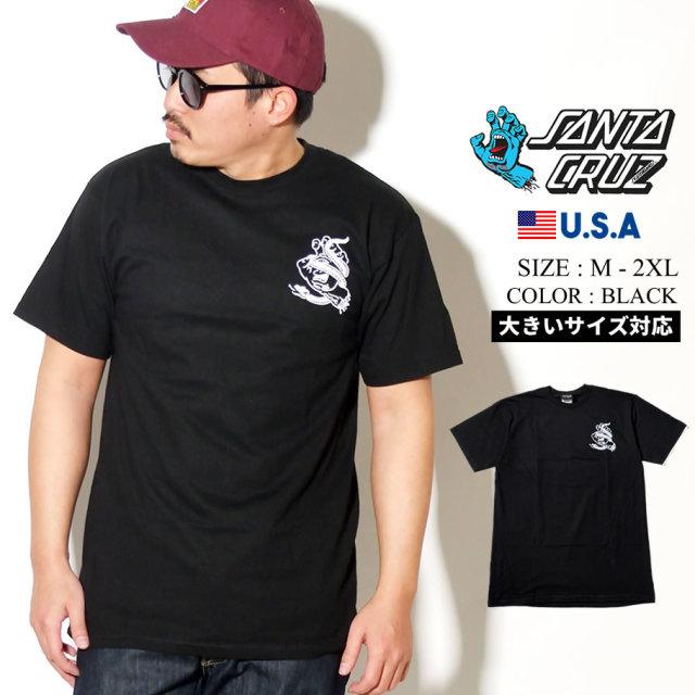 SANTA CRUZ (サンタクルーズ) 半袖Tシャツ ブラック SNAKE BITE S/S REGULAR T-SHIRT (44154628)