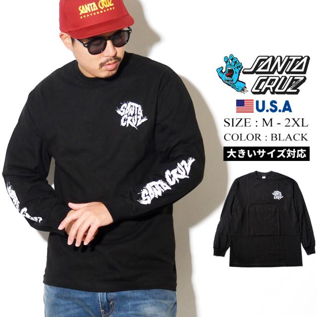 SANTA CRUZ (サンタクルーズ) 長袖Tシャツ ブラック FLARE L/S REGULAR T-SHIRT (44154624)