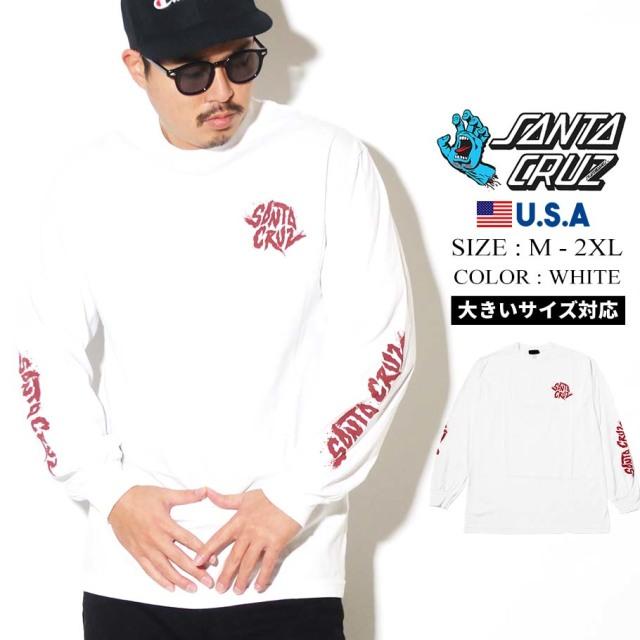 SANTA CRUZ (サンタクルーズ) 長袖Tシャツ ホワイト FLARE L/S REGULAR T-SHIRT (44154624)