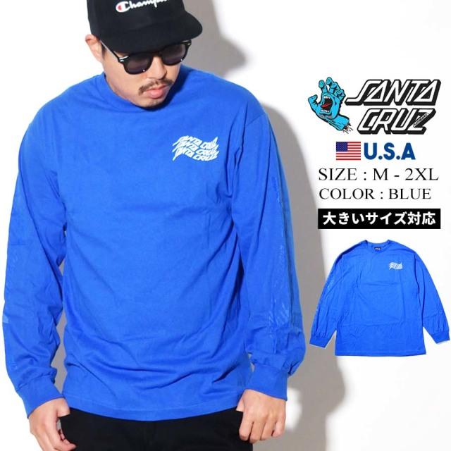 SANTA CRUZ (サンタクルーズ) 長袖Tシャツ ロンT ブルー VORTEX HAND L/S REGULAR T-SHIRT (44154625)