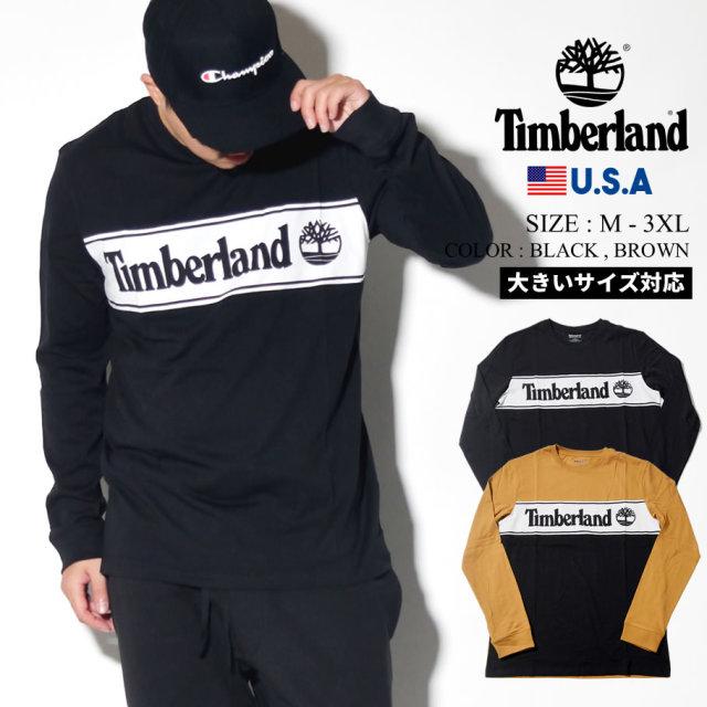 Timberland ティンバーランド ロンT 長袖Tシャツ メンズ 大きいサイズ ロゴ ライン ストリート系 カジュアル アウトドア ファッション 服 通販 TB0A1Z24