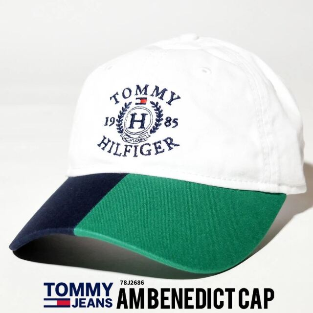 トミーヒルフィガー TOMMY HILFIGER キャップ 帽子 メンズ レディース USAモデル カラーブロッククレステッドキャップ 21SS 春 新作
