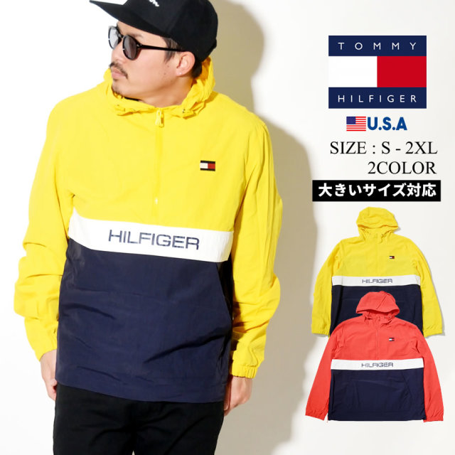TOMMY HILFIGER (トミーヒルフィガー) ハーフジップ ジャケット COLOR BLOCK POPOVER (159AN703)