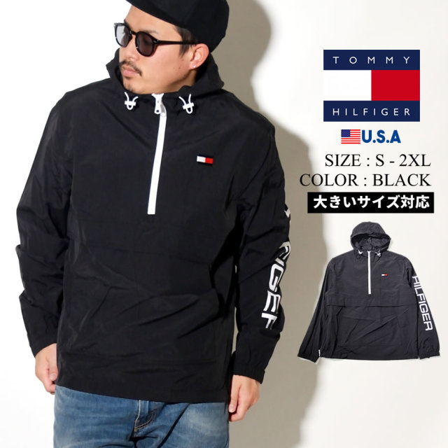 TOMMY HILFIGER (トミーヒルフィガー) ハーフジップ ジャケット CLASSIC POPOVER WITH LOGO (159AN438)