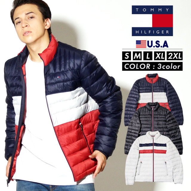 TOMMY HILFIGER トミーヒルフィガー ジャケット メンズ 大きいサイズ CLASSIC NYLON DOWN FILLED PACKABLE 158AN496