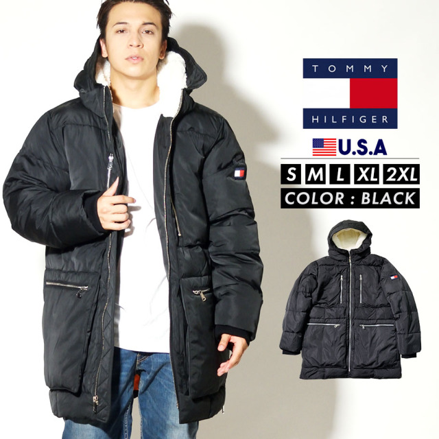 TOMMY HILFIGER トミーヒルフィガー ジャケット メンズ 大きいサイズ POLY NYLON LONG QUILTED PUFFER PARKA 159AN328
