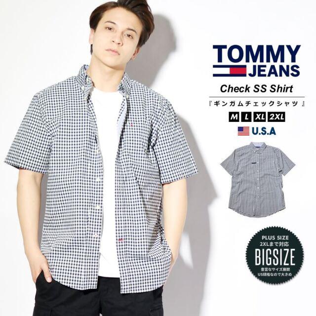トミーヒルフィガー TOMMY HILFIGER チェックシャツ ブラウス メンズ 半袖 ボタンダウン 柄 ブランド 大きめ CLASSIC FIT ESSENTIAL CHECK SHIRT 78J2331