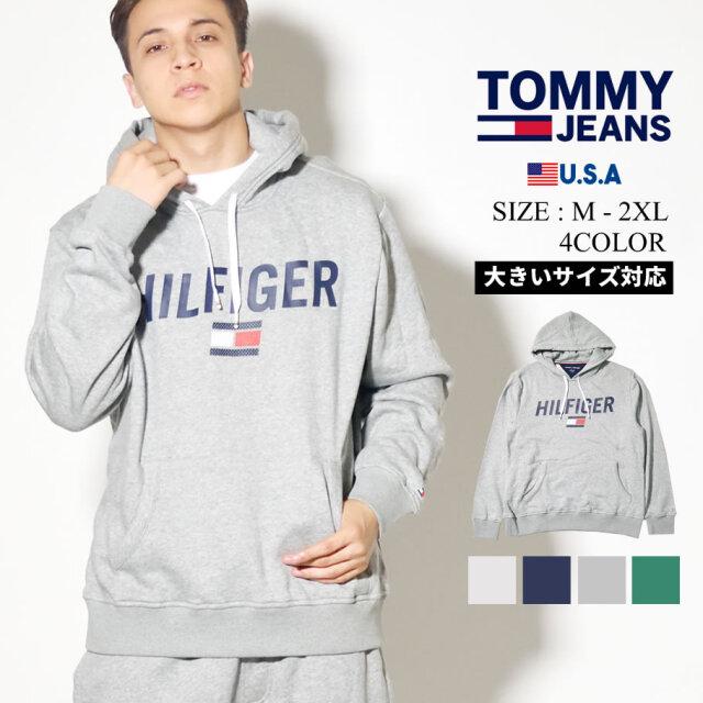 TOMMY HILFIGER トミーヒルフィガー パーカー メンズ 大きいサイズ ロゴ 78E1555