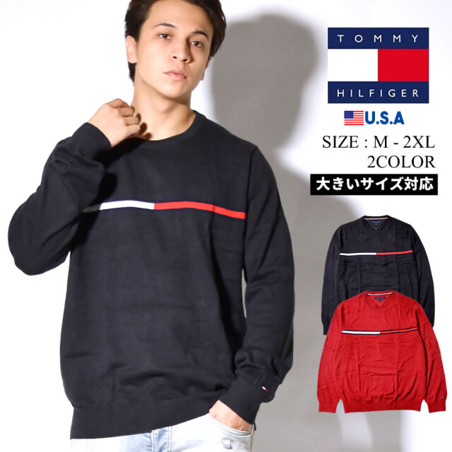 TOMMY HILFIGER セーター メンズ TOMMY FLAG CREW 78J1044 tmpt015