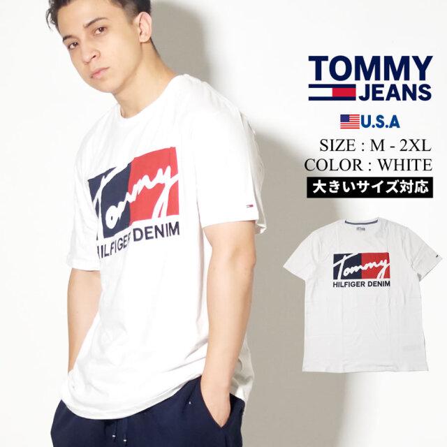 TOMMY HILFIGER トミーヒルフィガー Tシャツ 半袖 ロゴ 大きいサイズ 78E7331