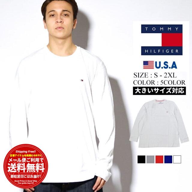 (最安値挑戦)トミーヒルフィガー ロンT 長袖Tシャツ メンズ レディース 大きいサイズ USAモデル TOMMY HILFIGER BASIC CORE FLAG CORE FLAG LONG SLEEVE 09T311