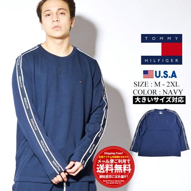 トミーヒルフィガー TOMMY HILFIGER ロンT 長袖Tシャツ メンズ レディース 大きいサイズ USAモデル L/S CREW NECK 09T3860