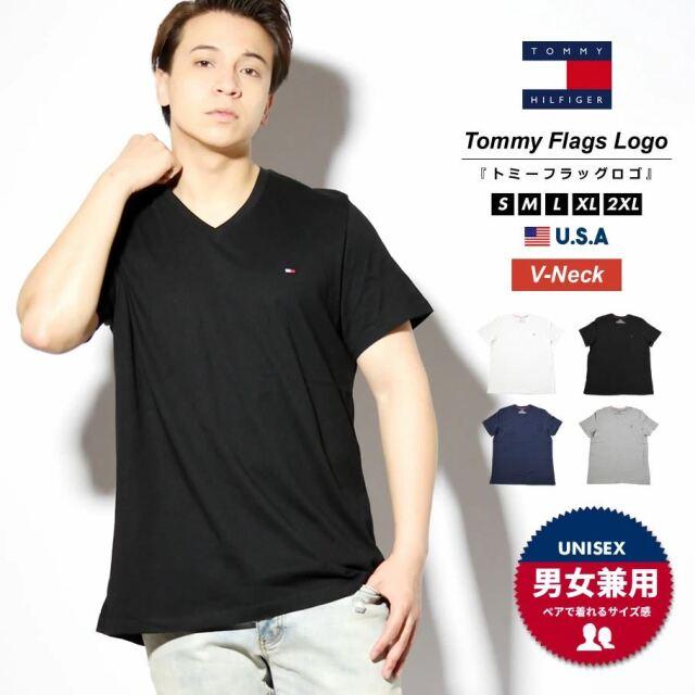 トミーヒルフィガー TOMMY HILFIGER VネックTシャツ メンズ レディース 半袖 おしゃれ ブランド 大きいサイズ USAモデル BASIC CORE FLAG S/S TEE 09T3140