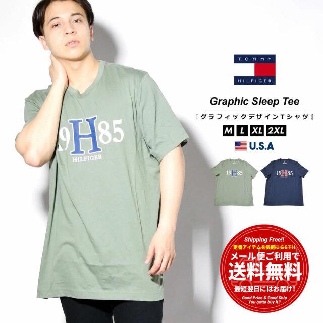 トミーヒルフィガー TOMMY HILFIGER Tシャツ メンズ レディース 半袖 薄手 ブランド USAモデル GRAPHIC SLEEP TEE 09T3957
