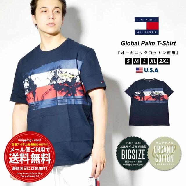 トミーヒルフィガー TOMMY HILFIGER Tシャツ メンズ 半袖 ロゴプリント ブランド USAモデル 大きいサイズ 78J3225