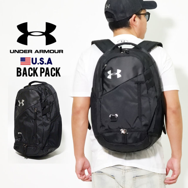 UNDER ARMOUR アンダーアーマー バックパック UA HUSTLE 4.0 BACKPACK 1342651 ブラック