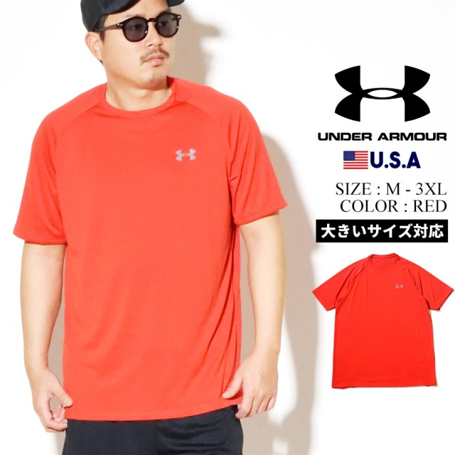 UNDER ARMOUR アンダーアーマー 半袖 Tシャツ メンズ UA TECH 2.0 SHORT SLEEVE 1326413 レッド