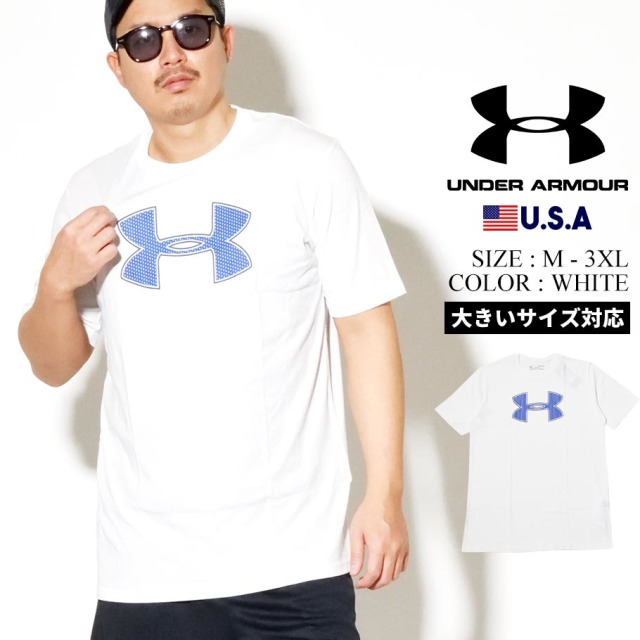 UNDER ARMOUR アンダーアーマー 半袖 Tシャツ メンズ UA BIG LOGO SHORT SLEEVE 1329583 ホワイト