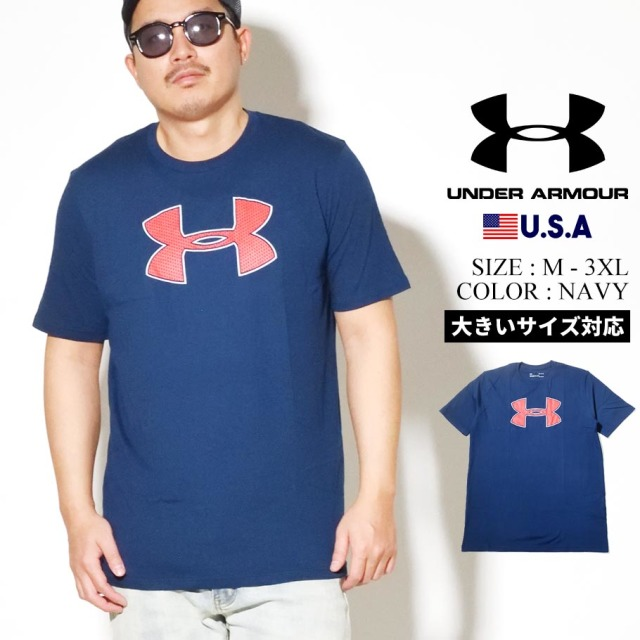 UNDER ARMOUR アンダーアーマー 半袖 Tシャツ メンズ UA BIG LOGO SHORT SLEEVE  ネイビー