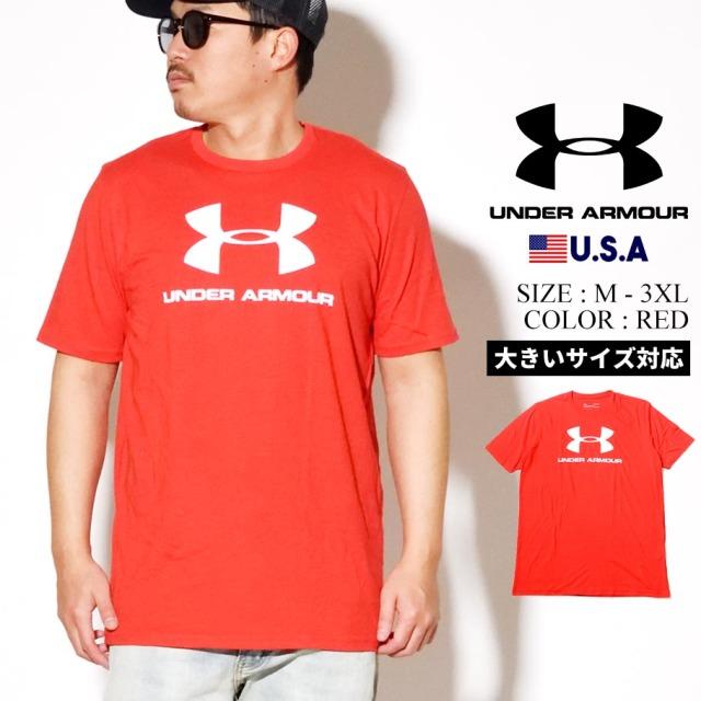 UNDER ARMOUR アンダーアーマー 半袖 Tシャツ メンズ UA SPORTSTYLE LOGO SHORT SLEEVE 1329590 レッド