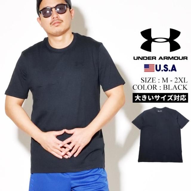 UNDER ARMOUR アンダーアーマー 半袖 Tシャツ メンズ UA SPORTSTYLE LFET CHEST SHORT SLEEVE 1326799 ブラック