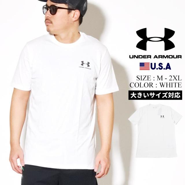 UNDER ARMOUR アンダーアーマー 半袖 Tシャツ メンズ UA SPORTSTYLE LFET CHEST SHORT SLEEVE 1326799 ホワイト