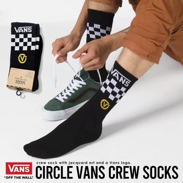 VANS (バンズ) クルーソックス M CIRCLE VANS CREW (VN0A45E4)
