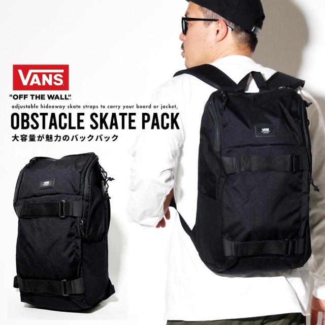 VANS (バンズ) バックパック M OBSTACLE SKATEPACK (VN0A3I69)