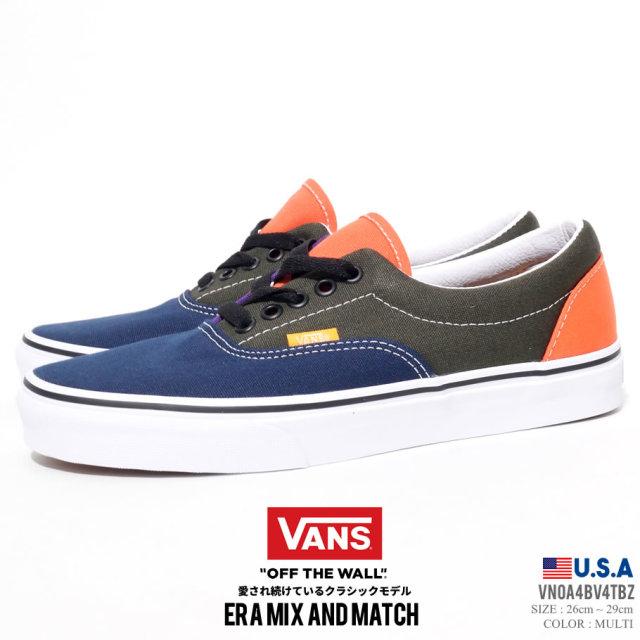VANS バンズ スニーカー エラ メンズ ERA MIX MATCH VN0A4BV4TBZ ストリート系 スケーター ファッション 靴 通販