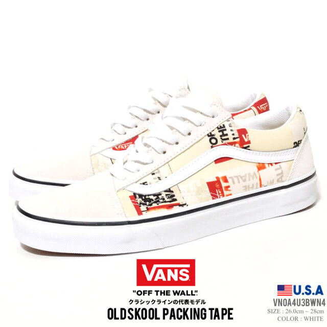 VANS ヴァンズ スニーカー U OLD SKOOL (WN4 BLANC DE BLANC/TRUE WHITE) VN0A4U3BWN4