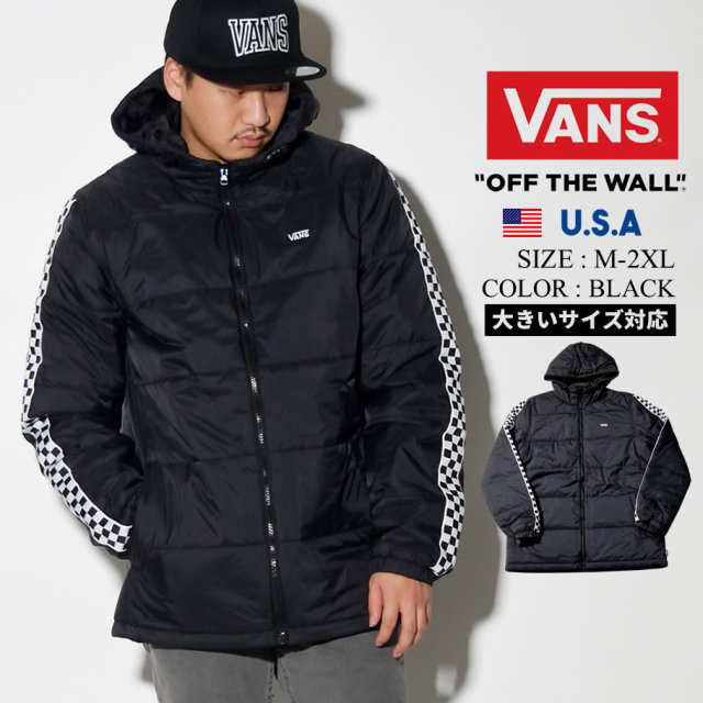 VANS バンズ ジャケット メンズ チェッカー ロゴ スケーター ストリート系 ファッション 服 通販