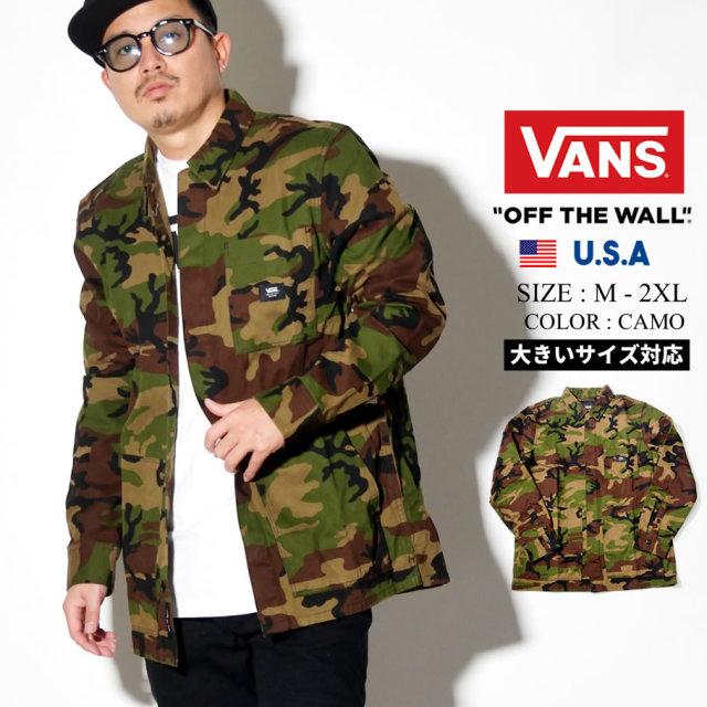 VANS (バンズ) 長袖カモフラージュシャツ M FULLERTON (VN0A49IX)
