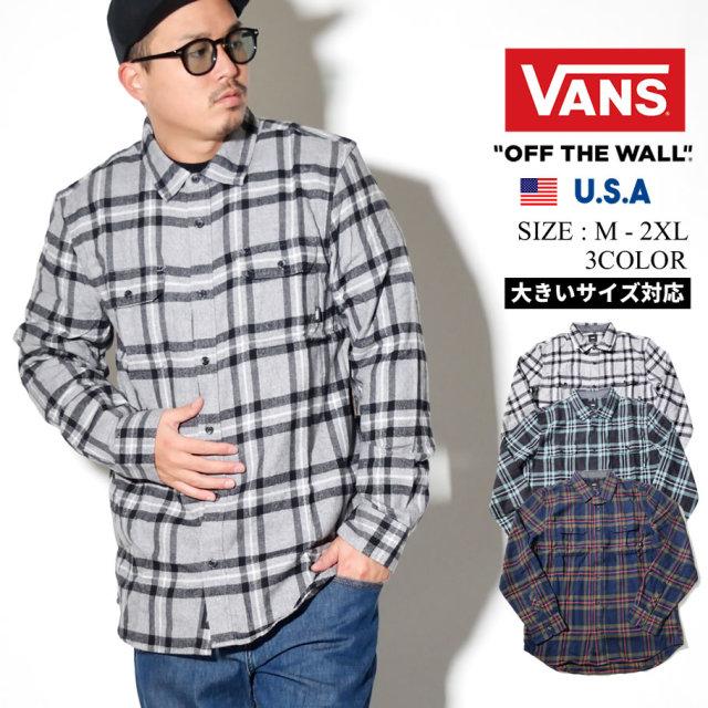 VANS (バンズ) 長袖チェックシャツ M WESTMINSTER (VN0A49IY)