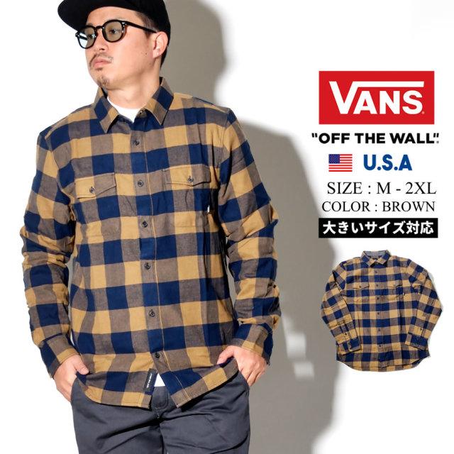 VANS (バンズ) 長袖チェックシャツ M ALISO (VN0A49LD)