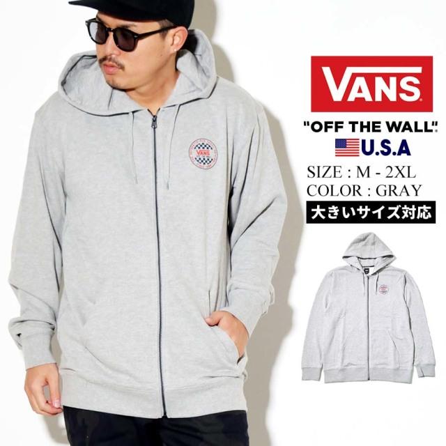 VANS ヴァンズ ジップパーカー メンズ ロゴ M OG CHECKER ZIP VN0A49UA