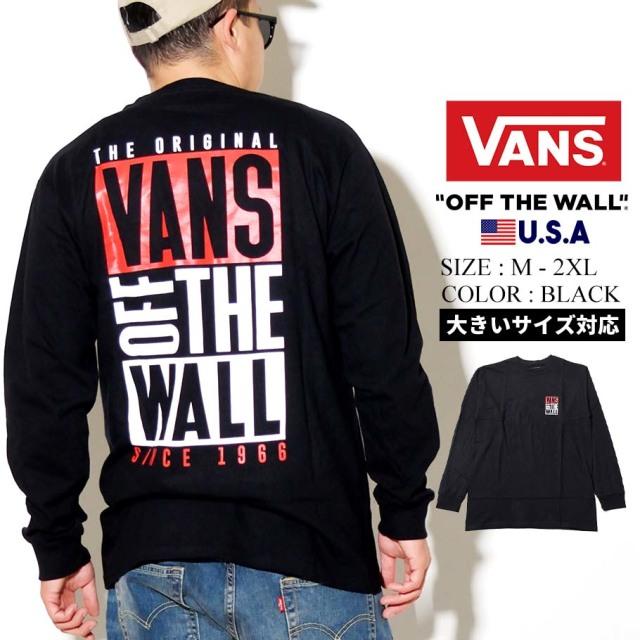 VANS ヴァンズ ロンT 長袖Tシャツ メンズ M NEW STAX LS VN0A49QR