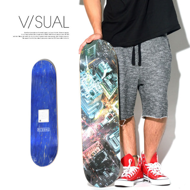 VISUAL (ビジュアル) スケボーデッキ SQUARE TIMES DECK VSAT010